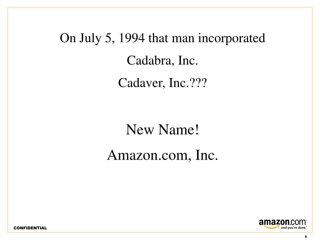 On July 5, 1994 that man incorporated