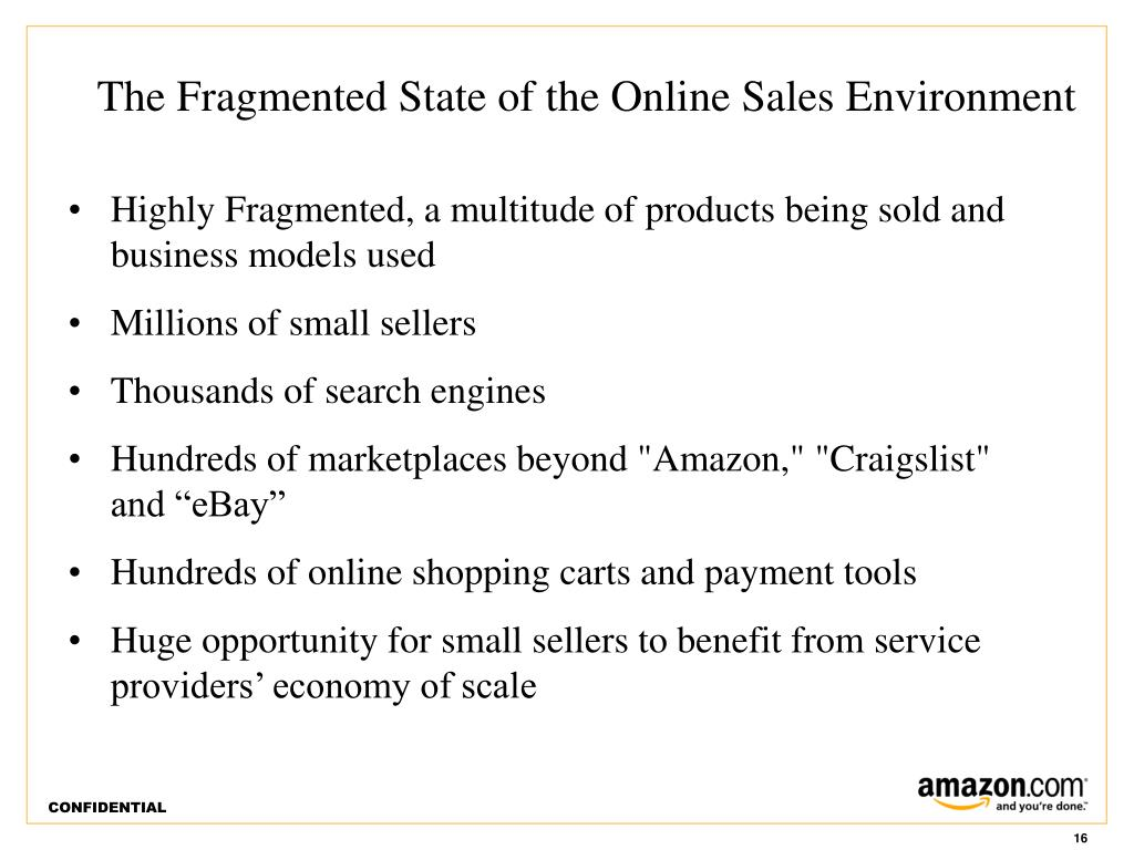 The Fragmented State of the Online Sales Environment