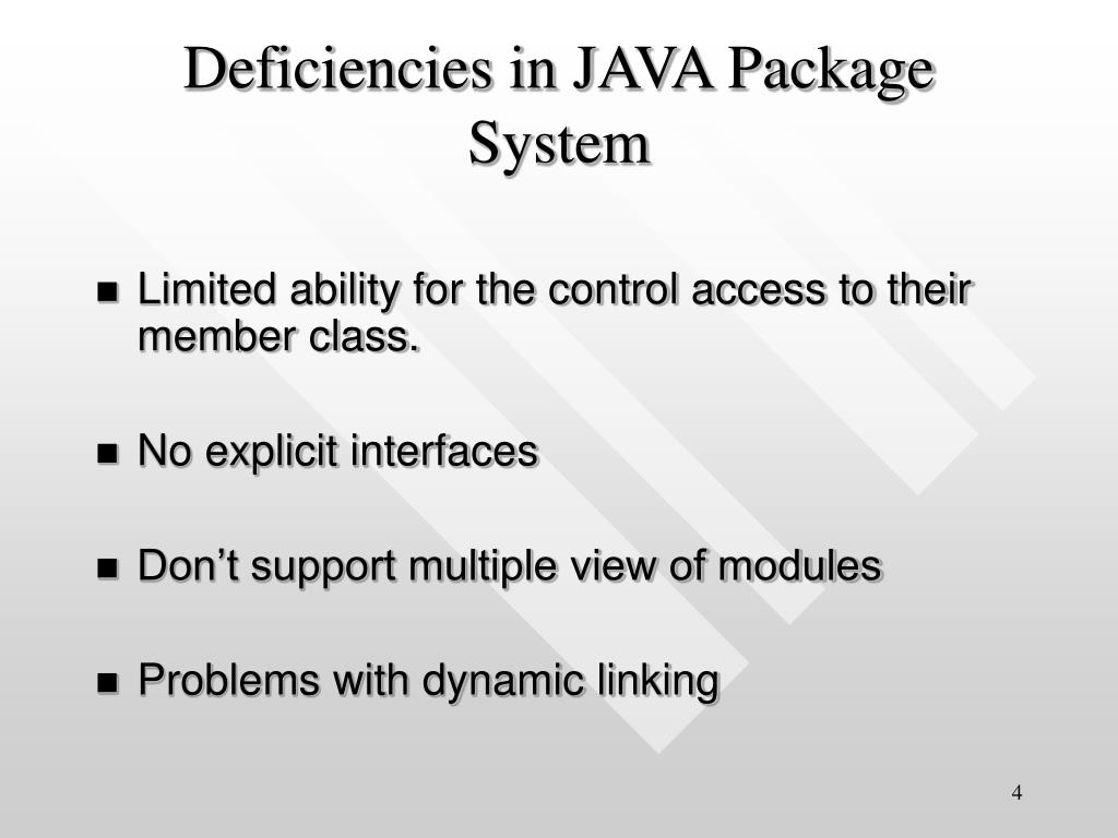 Deficiencies in JAVA Package System