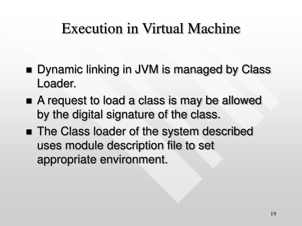 Execution in Virtual Machine