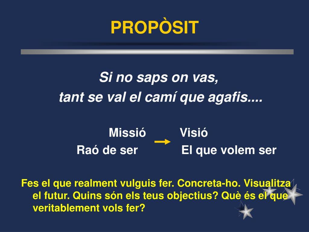 PROPÒSIT