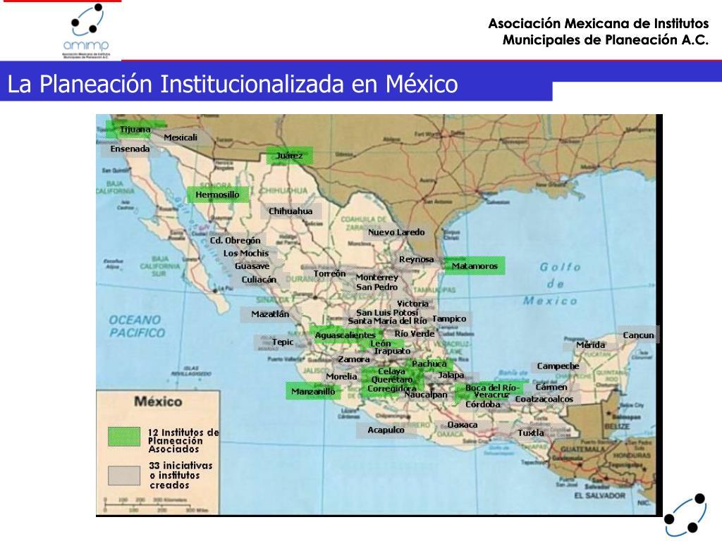 La Planeación Institucionalizada en México