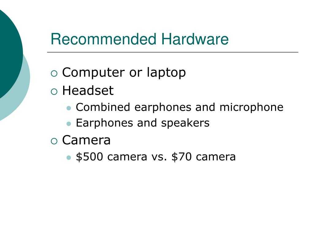 Recommended Hardware
