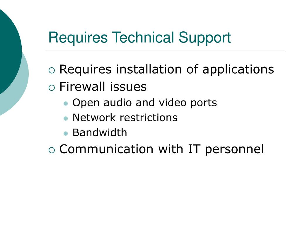 Requires Technical Support
