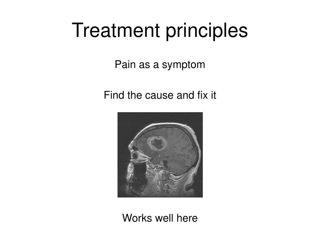 Treatment principles