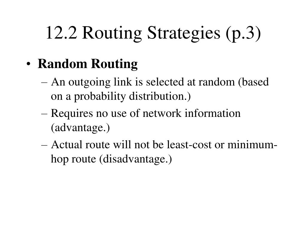 12.2 Routing Strategies (p.3)
