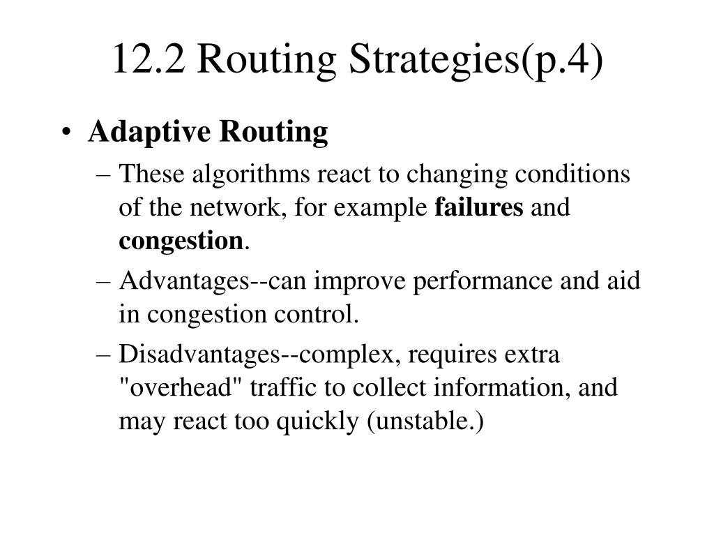 12.2 Routing Strategies(p.4)