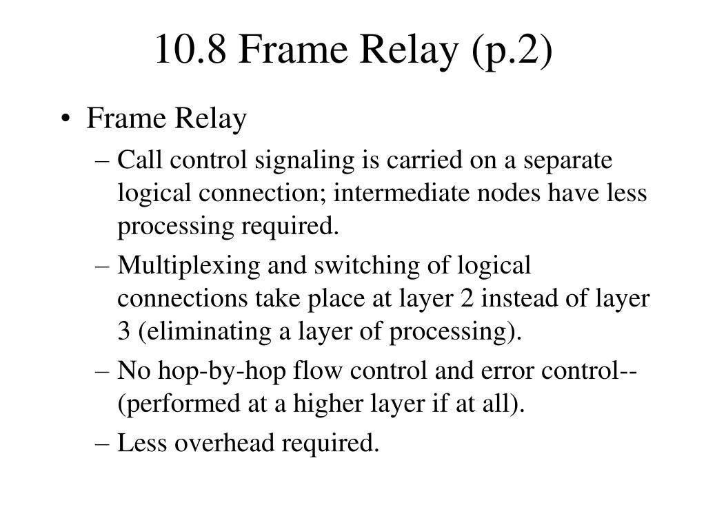 frame relay protocol architecture pdf