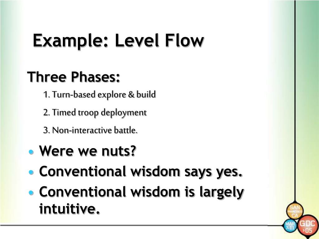 Example: Level Flow