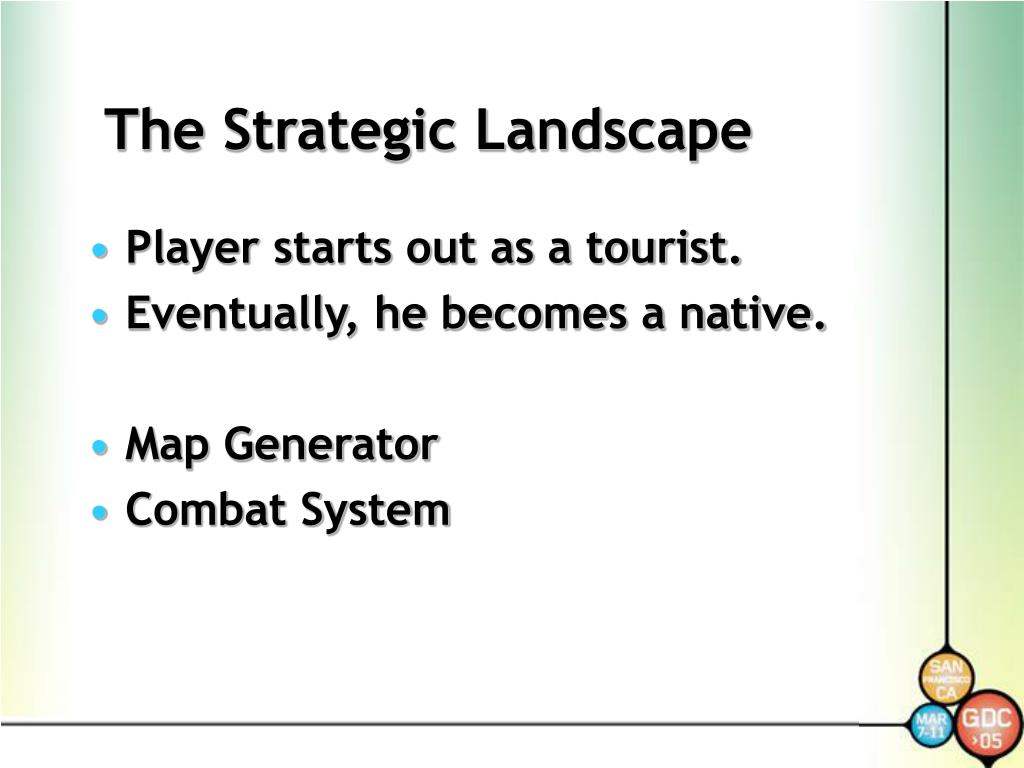 The Strategic Landscape