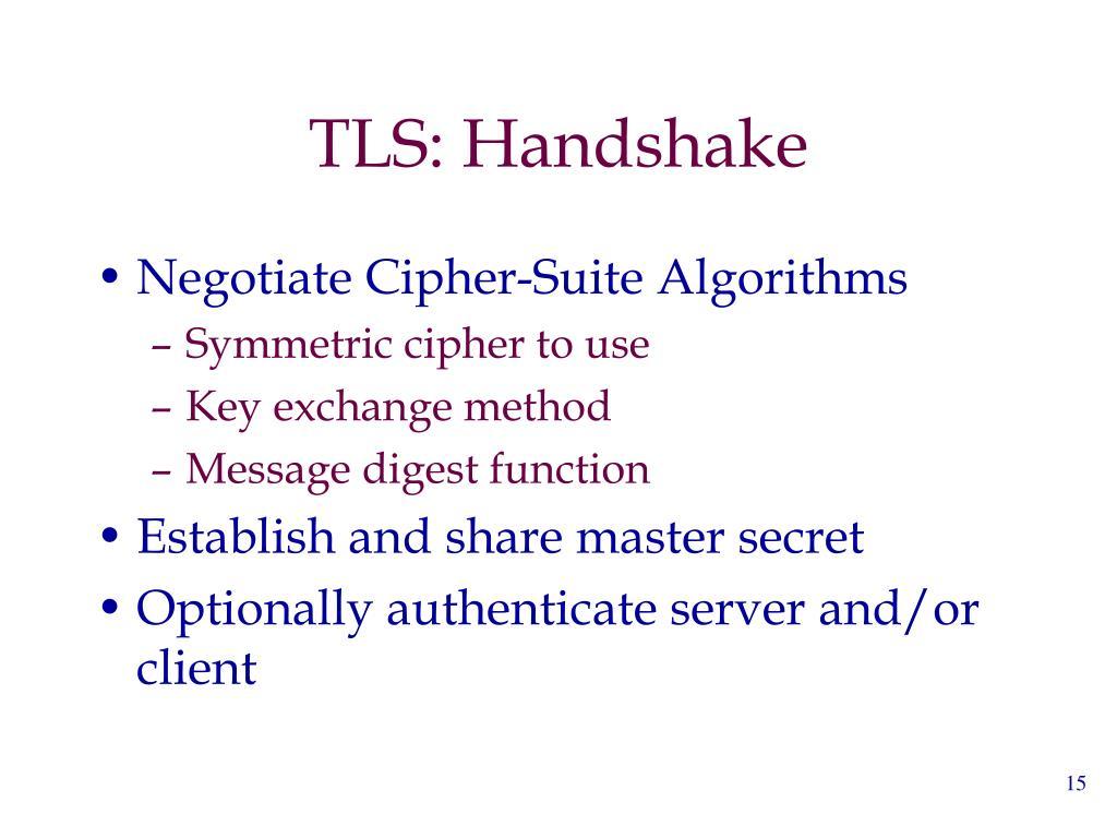 TLS: Handshake