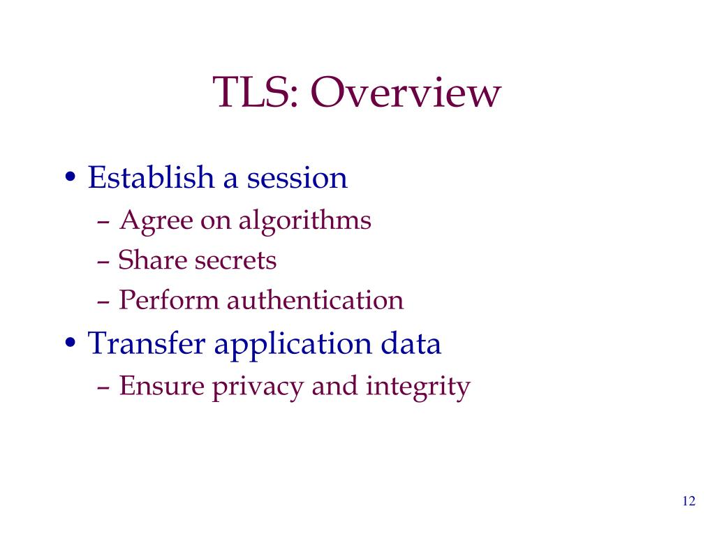 TLS: Overview