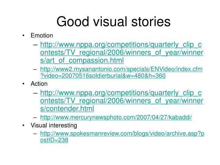 Good visual stories