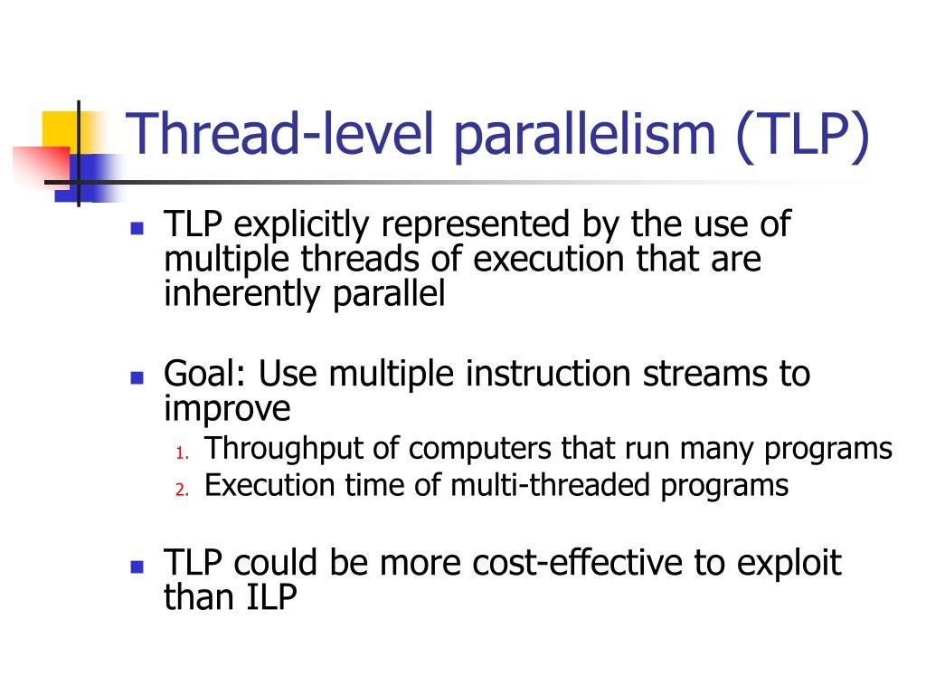 Thread-level parallelism (TLP)