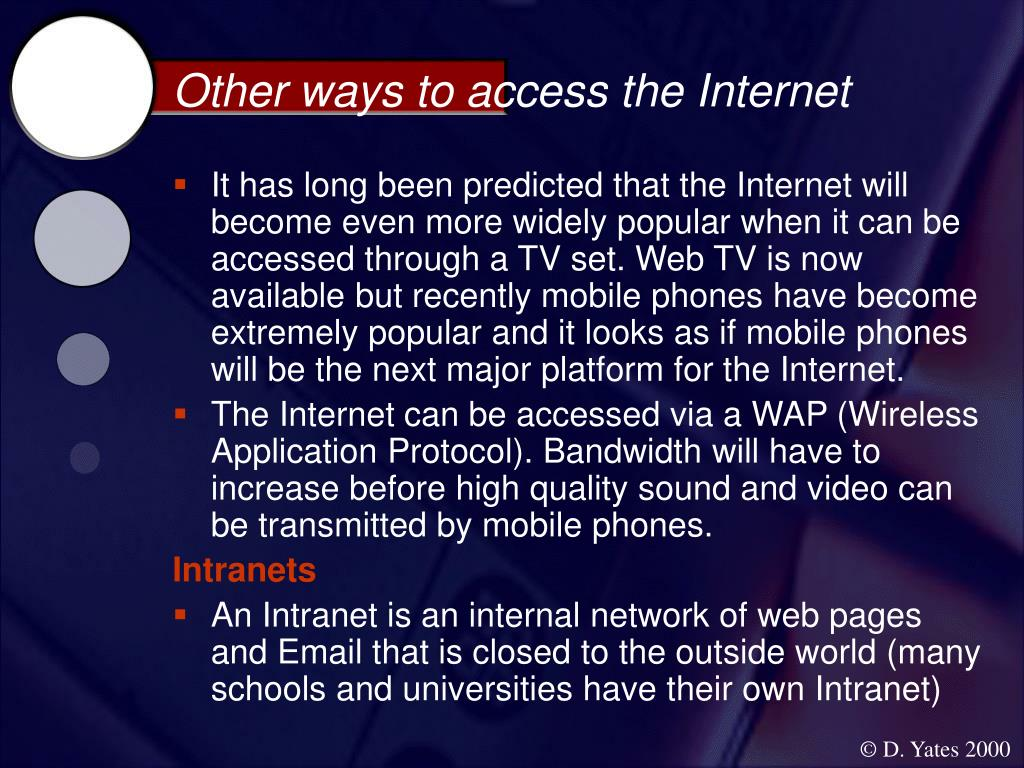 Other ways to access the Internet