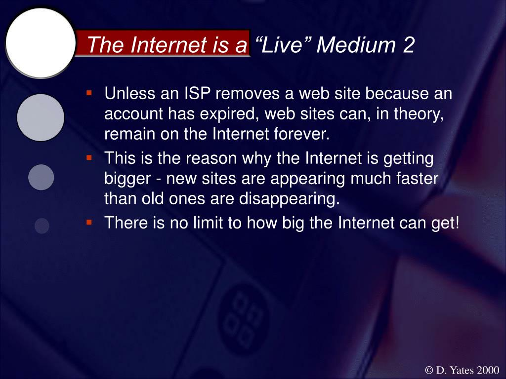 "The Internet is a ""Live"" Medium 2"