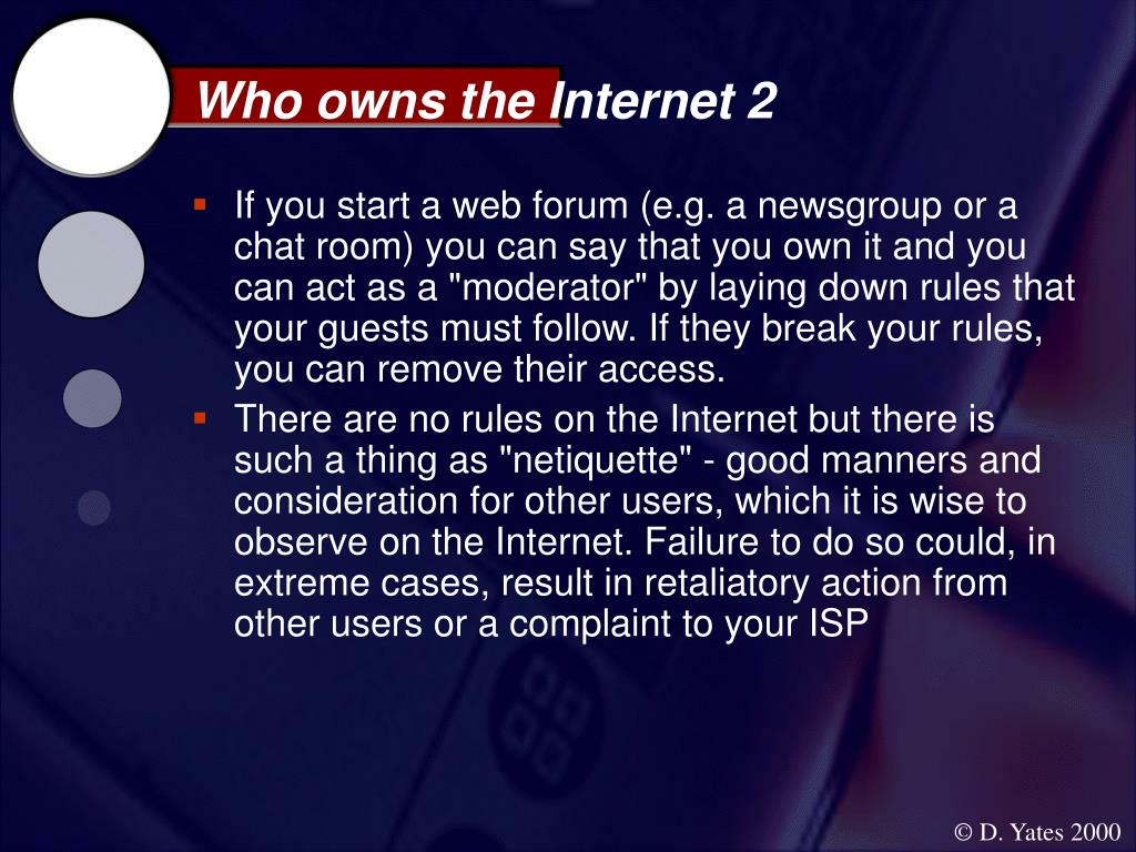 Who owns the Internet 2