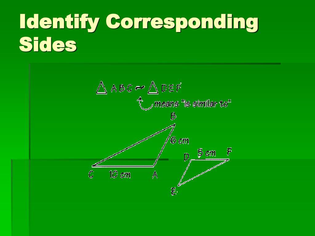 Identify Corresponding Sides
