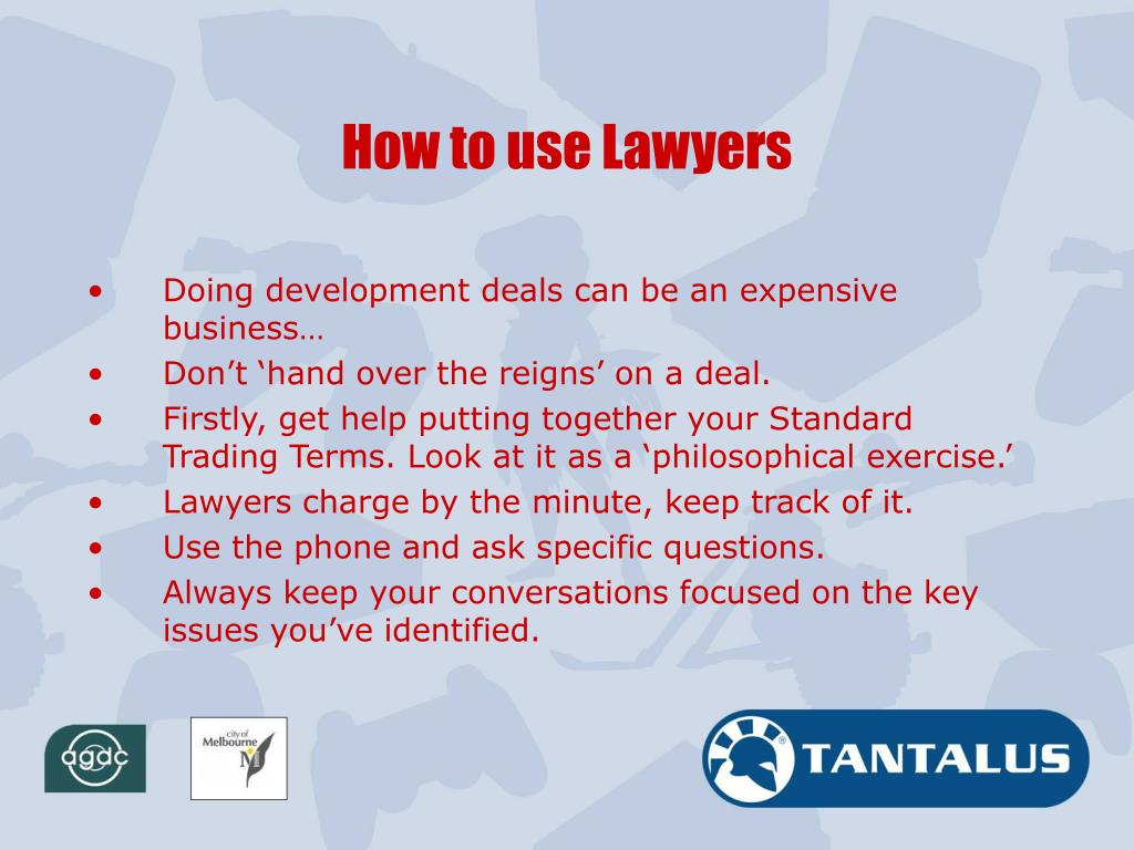 How to use Lawyers
