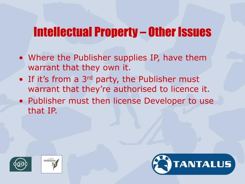 Intellectual Property – Other Issues