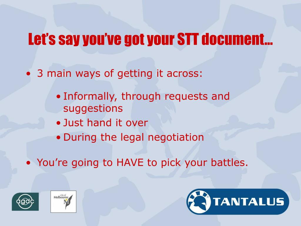 Let's say you've got your STT document…