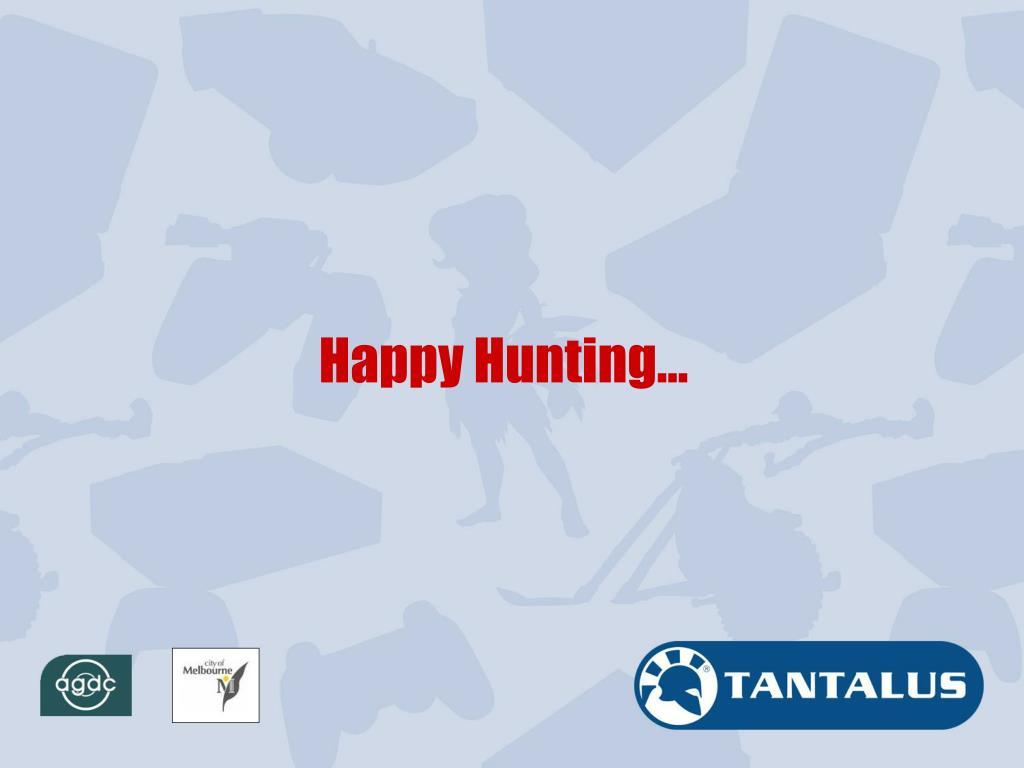 Happy Hunting…