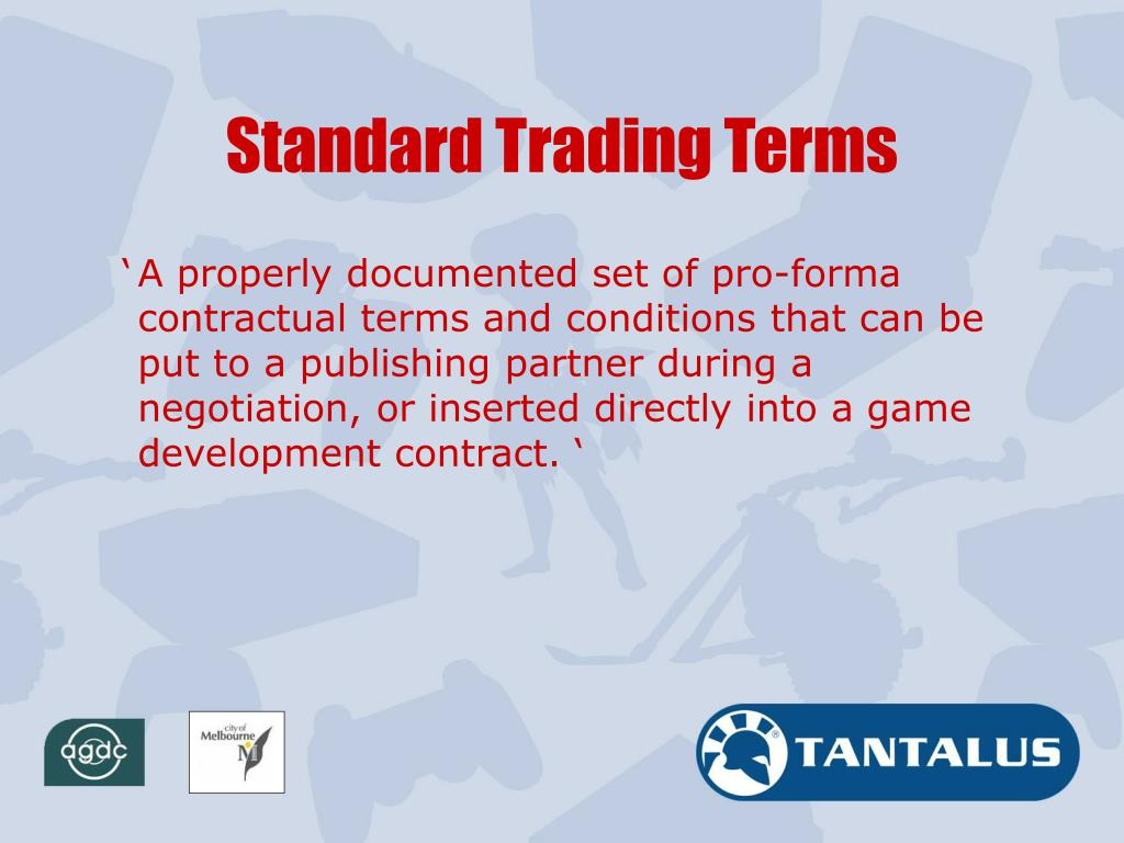 Standard Trading Terms