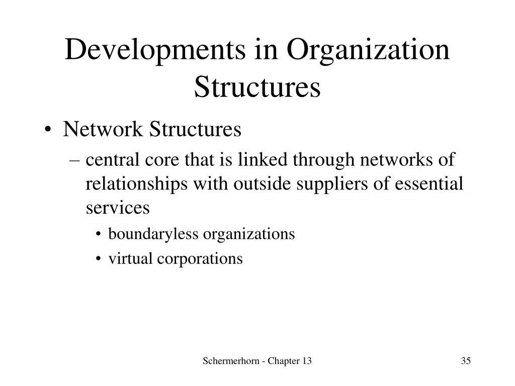Developments in Organization Structures