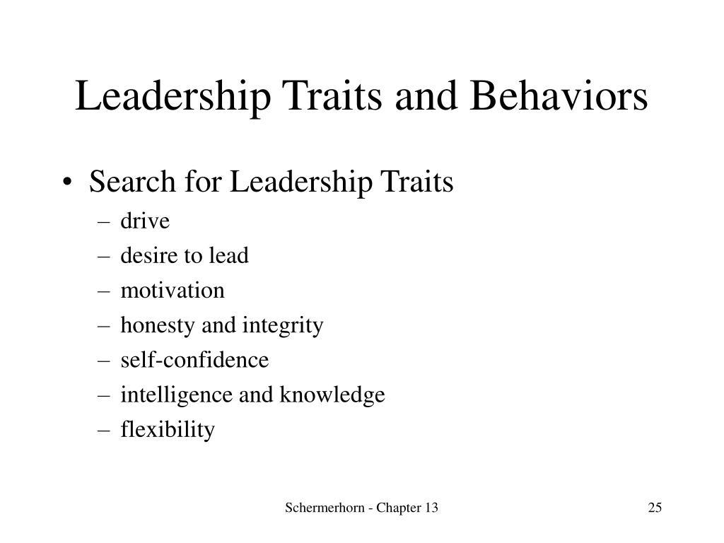 Leadership Traits and Behaviors