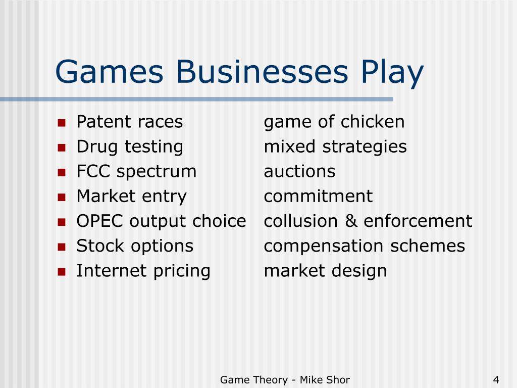 Games Businesses Play