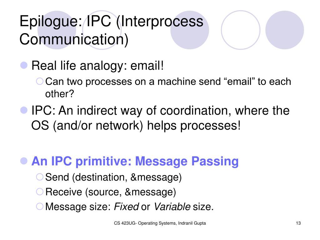 Epilogue: IPC (Interprocess Communication)