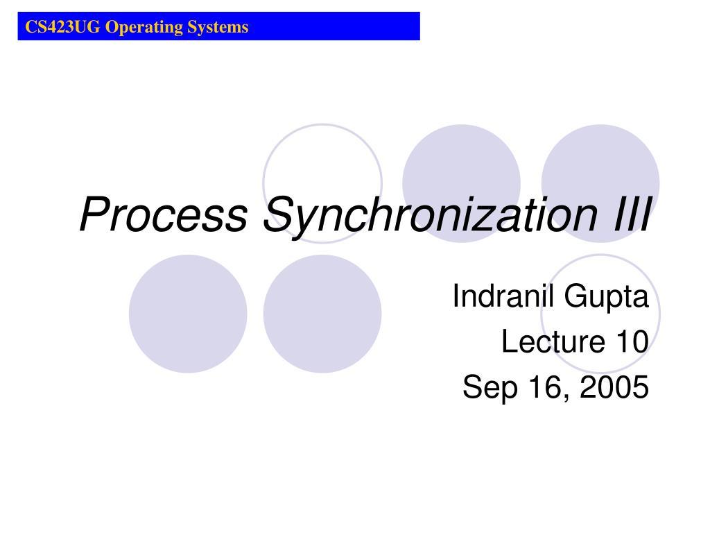 CS423UG Operating Systems