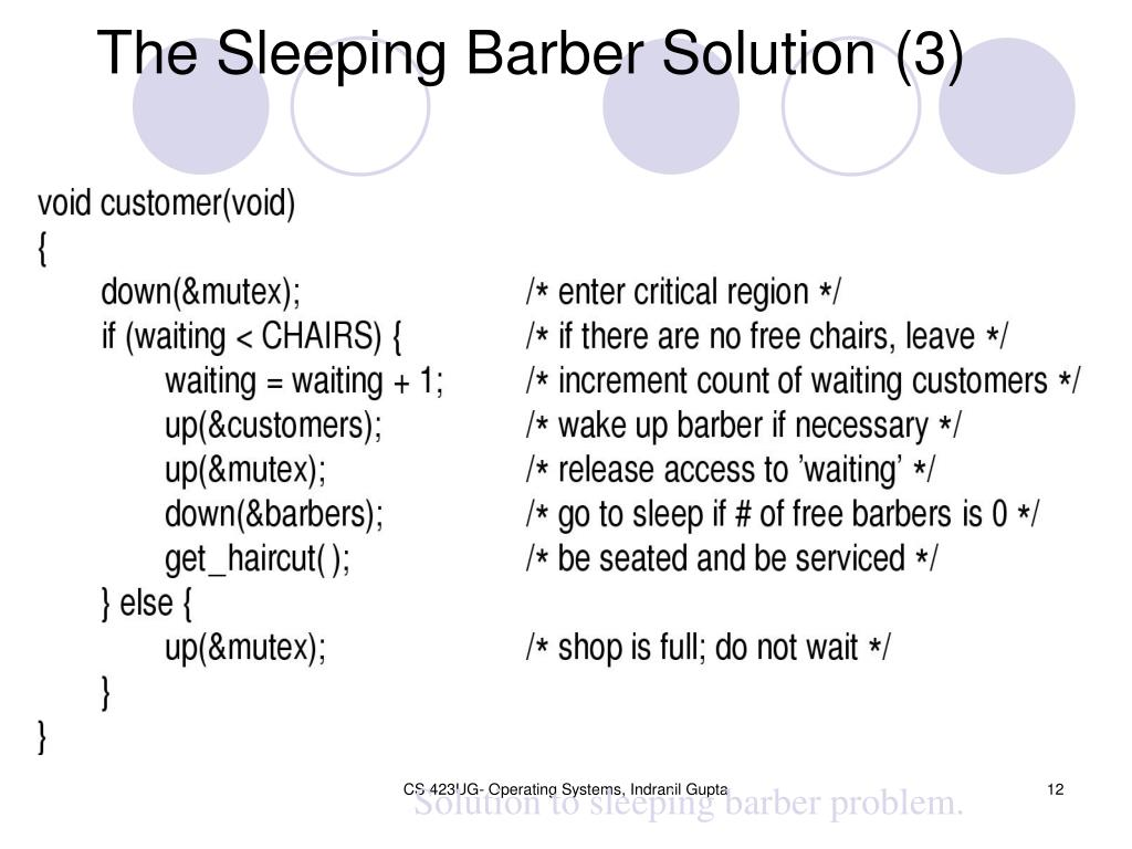 The Sleeping Barber Solution (3)