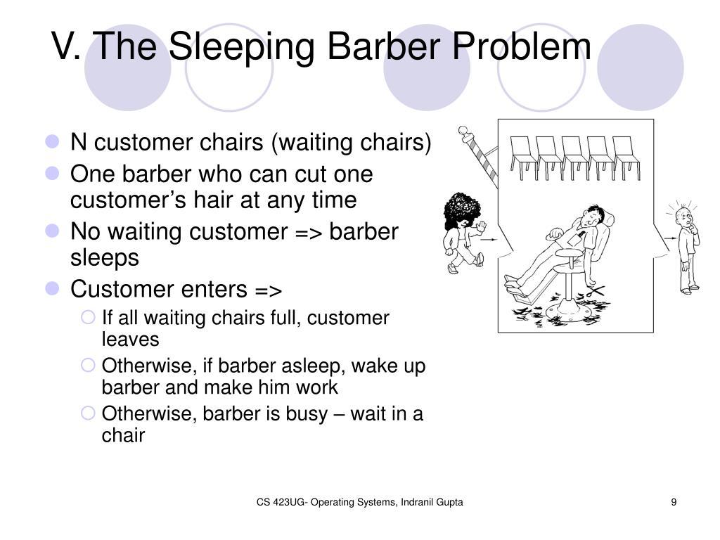 V. The Sleeping Barber Problem