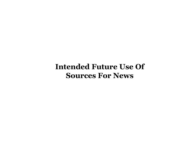 Intended Future Use Of