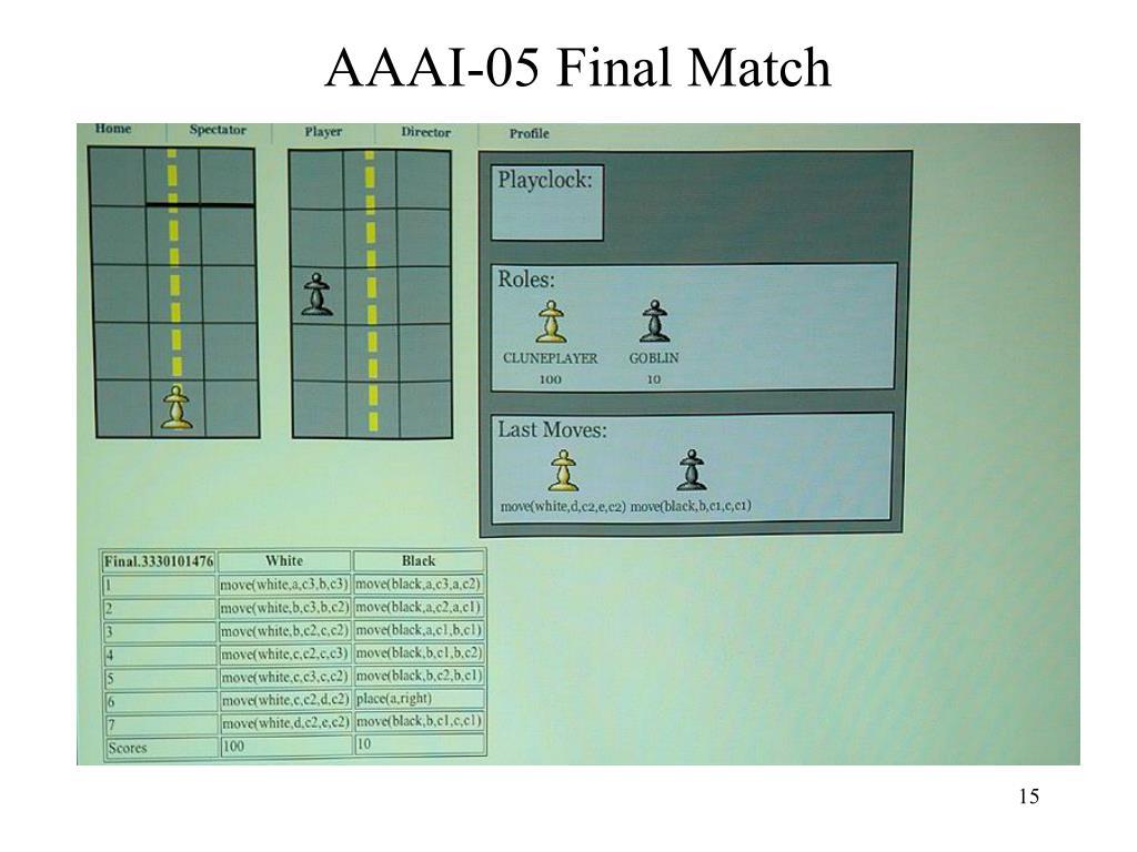 AAAI-05 Final Match