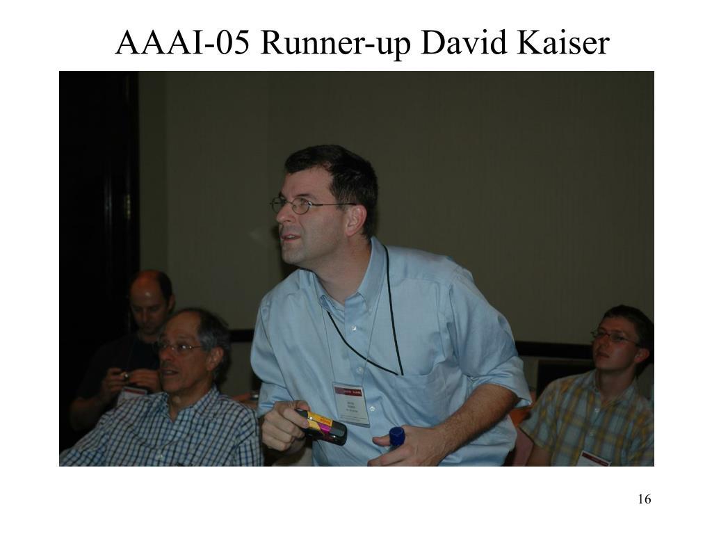 AAAI-05 Runner-up David Kaiser