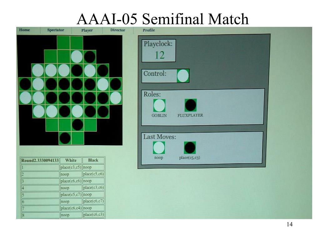 AAAI-05 Semifinal Match