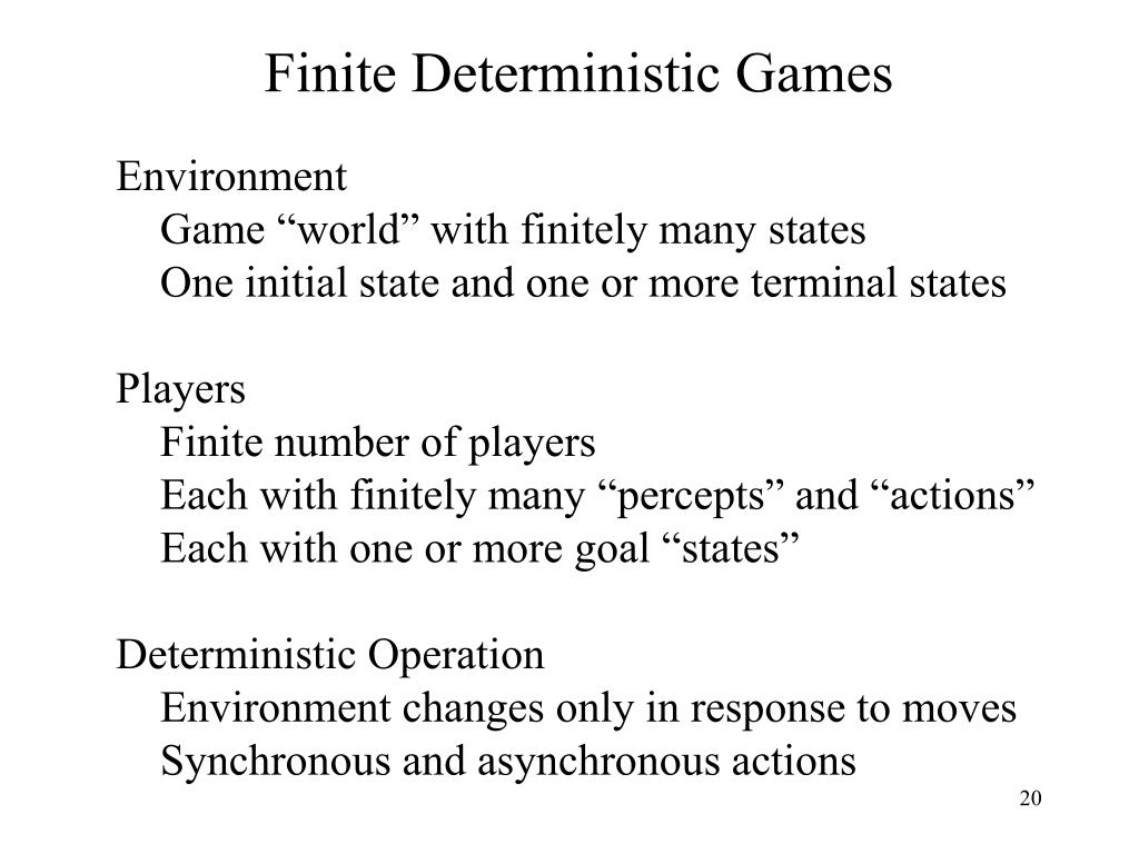 Finite Deterministic Games