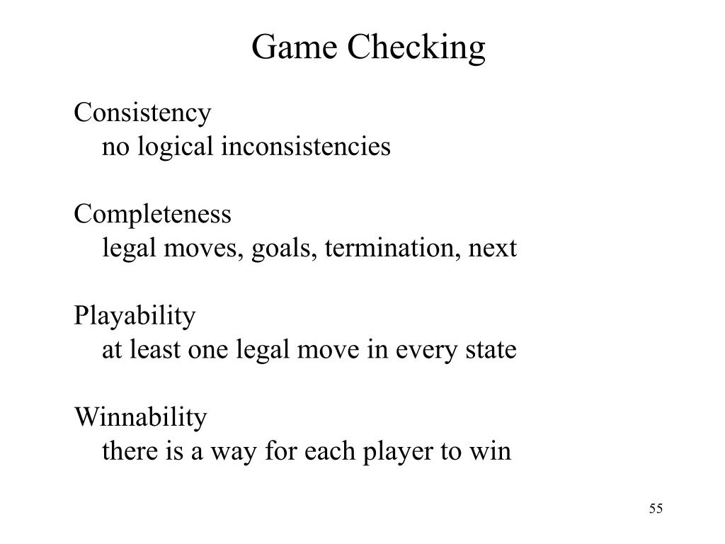 Game Checking
