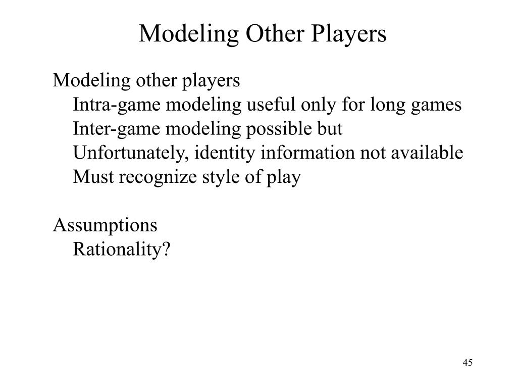 Modeling Other Players