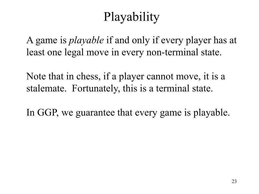 Playability