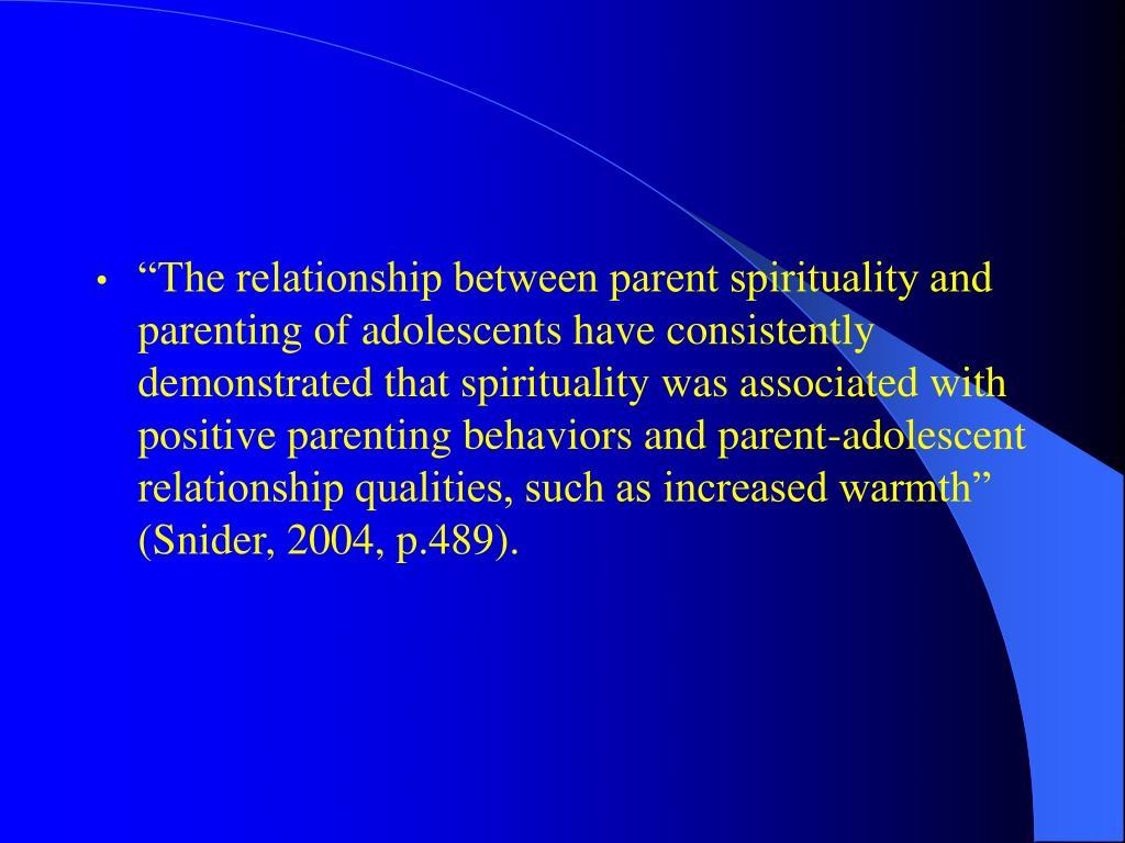 relationship between adolescent and parent