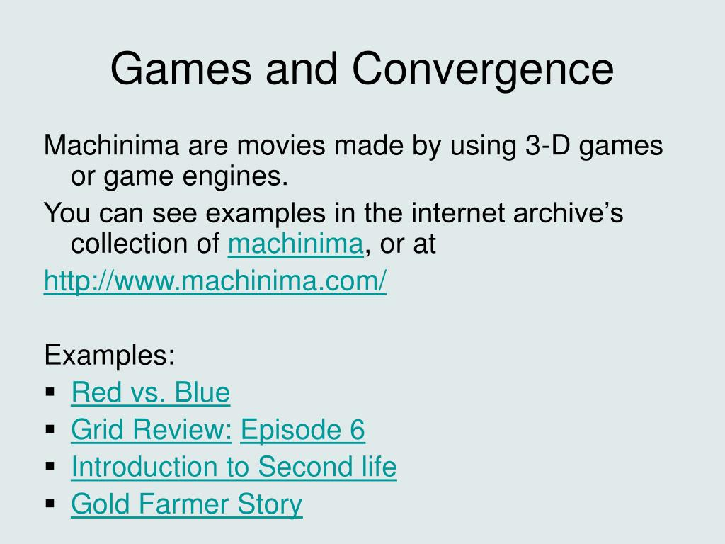 Games and Convergence