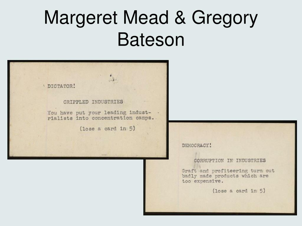 Margeret Mead & Gregory Bateson
