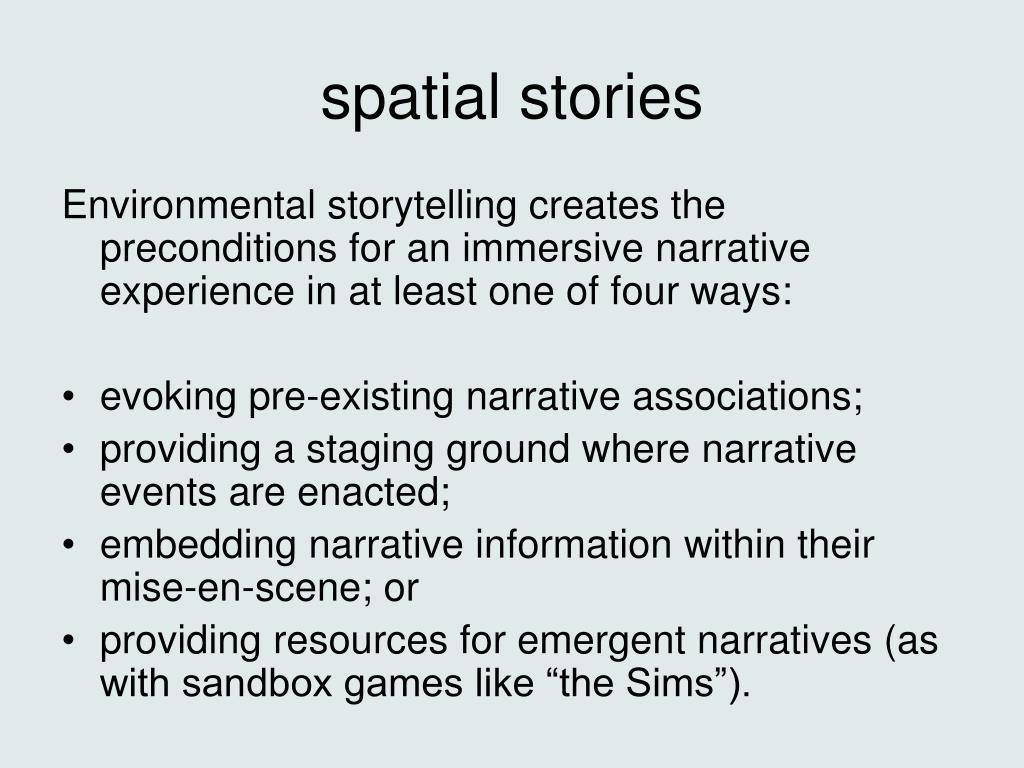 spatial stories