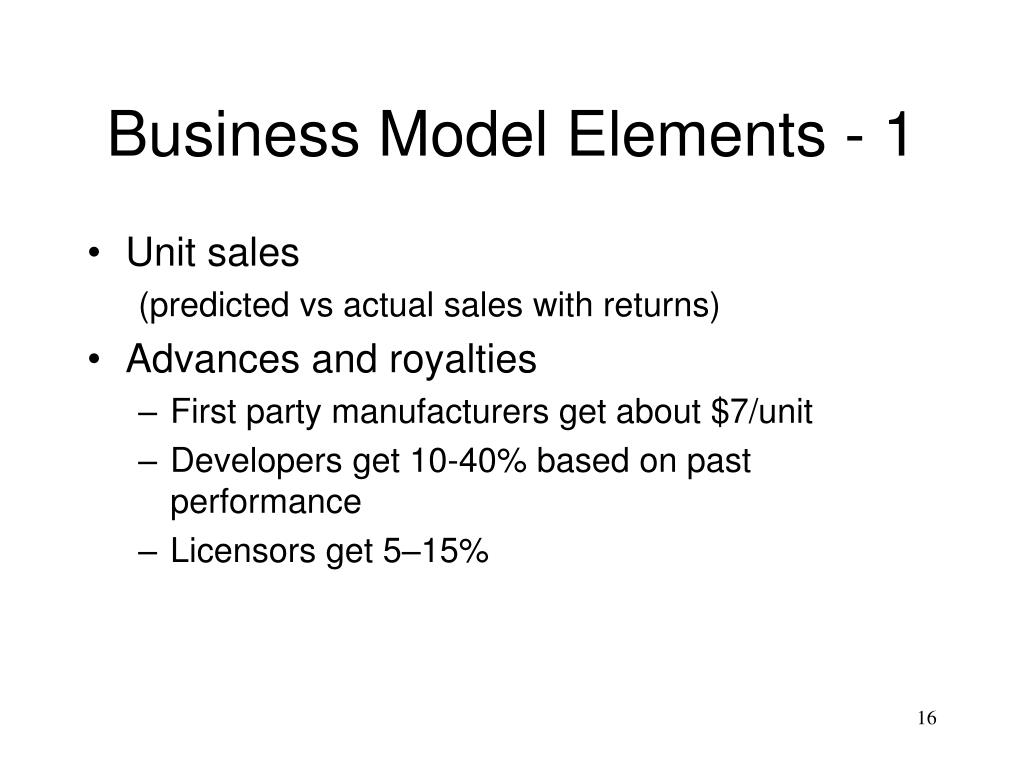 Business Model Elements - 1