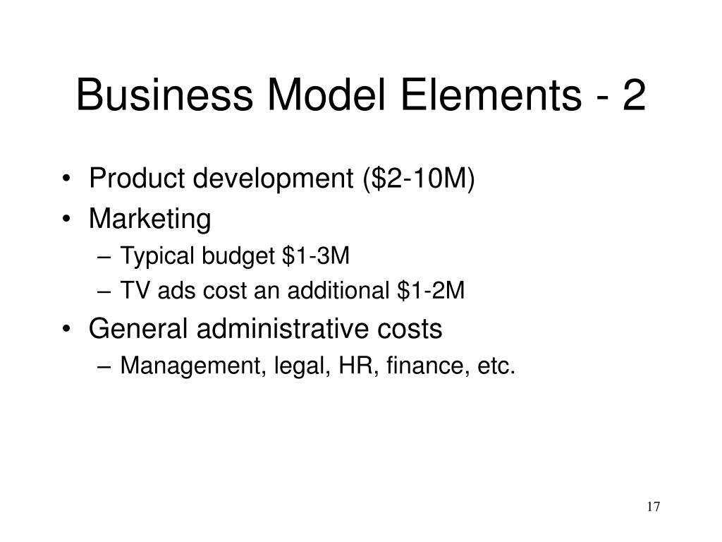 Business Model Elements - 2