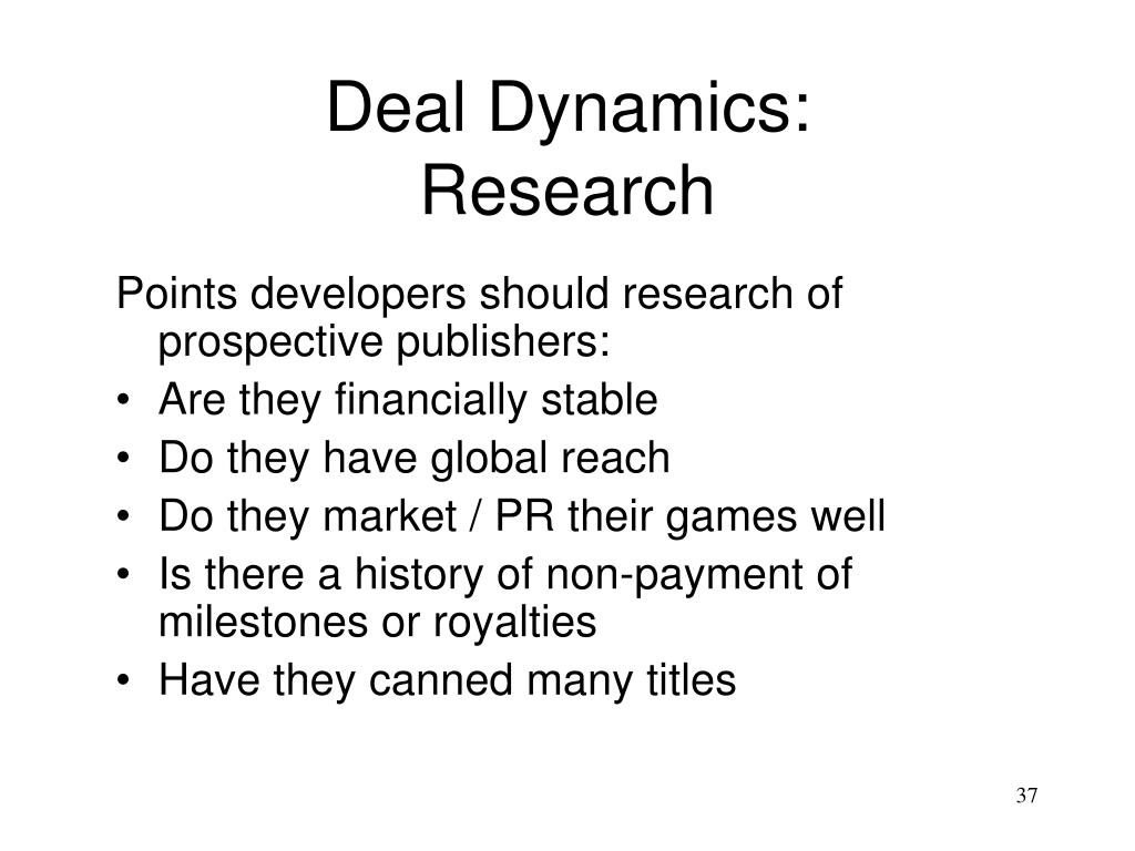Deal Dynamics