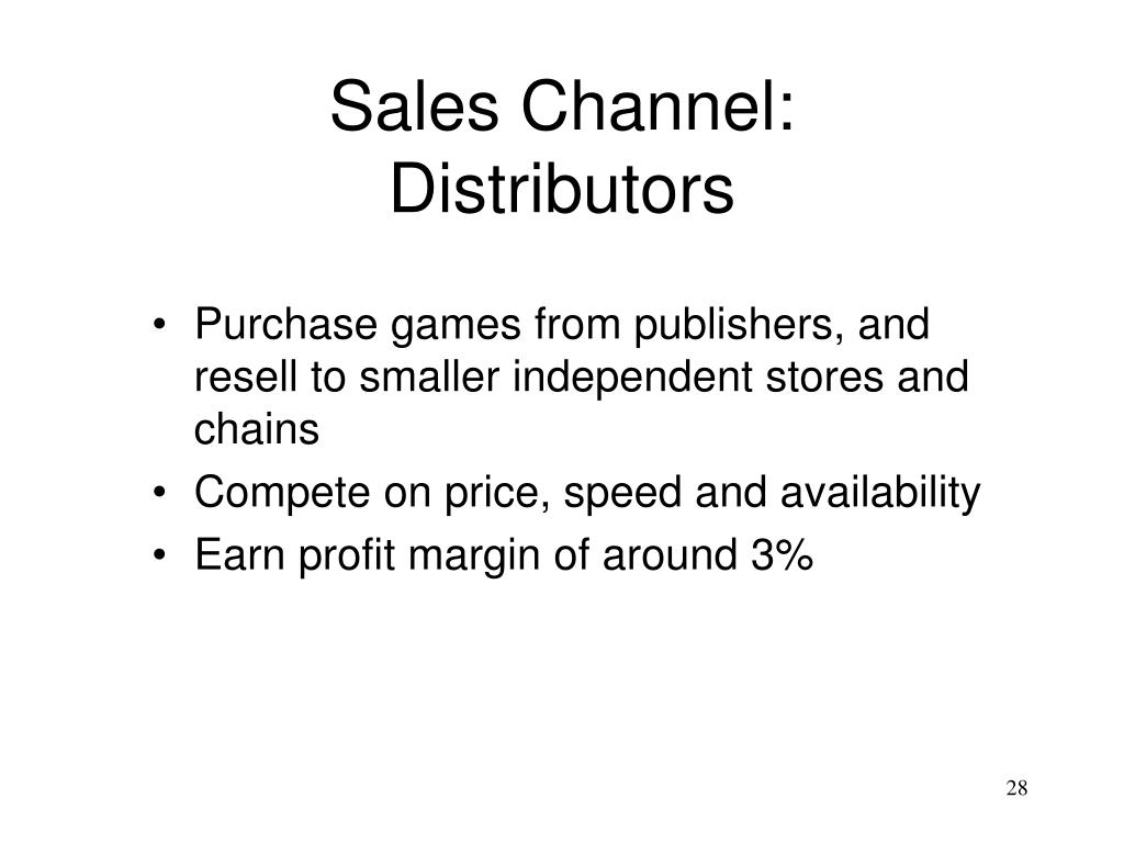 Sales Channel: